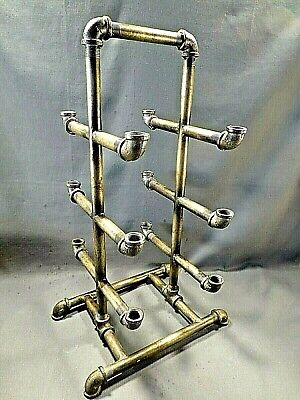 Urban Industrial Black Pipe Shoe Rack Real Black Pipe Welded At Joints