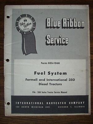 Ih Farmall Mccormick International D193 Fuel System 350 Diesel Service Manual