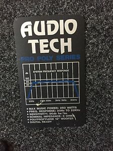 Audio Tech Pro Poly Speakers