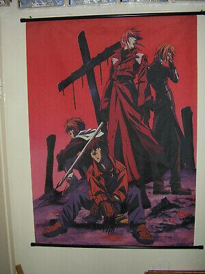 Rare WEISS KREUZ WALL SCROLL Anime Cloth Poster Print Japan Knight Hunters -