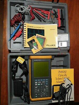 Fluke 97 Automotive Scopemeter Kit Powers Up Pm9080 Pm8918 Read Carefully