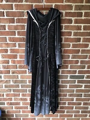 Teen Classic Ghost Face Scream Halloween Dress Costume Robe Sz 10-12 Child