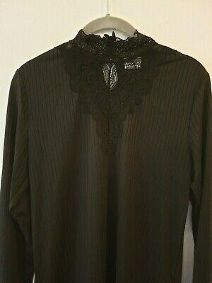 JDY Jacqueline de Yong Black Top ~ Vintage Style ~ Gothic ~ NWT ~ size 14