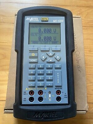 Martel Mc1200 Multifunction Process Calibrator