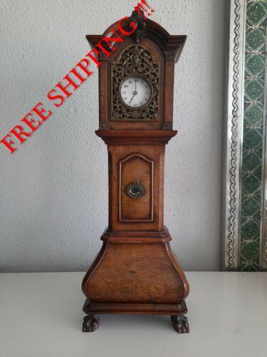 Antique Mahogany Miniature Grandfather Clock ( 0387 )