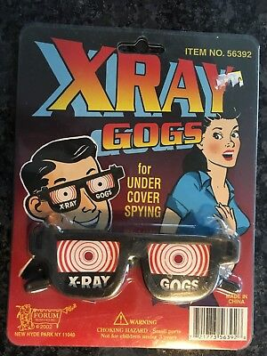 X Ray Gogs Goggles Glasses See Thru Vision Gag Spy Toy NIP 2002  for sale  Rochester