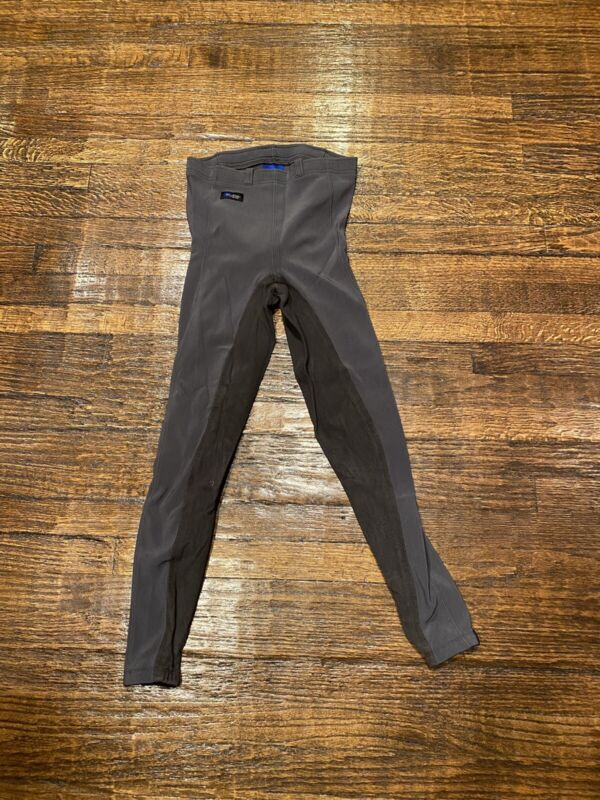 Kerrits Youth Gray Full Seat Microcord Riding Tights Size L
