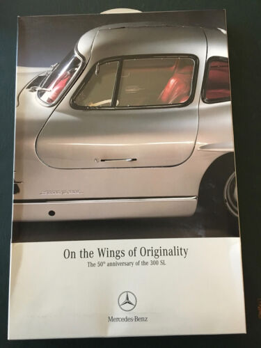 Mercedes 300SL 50th anniversary 3-dimensional brochure; gulwing opening cover