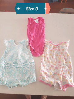 Size 0 girls clothes swimmers tshirts rompers
