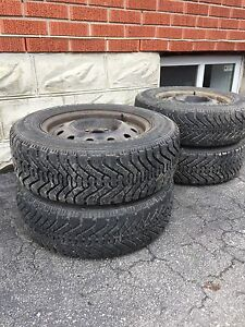4x100 rims and Goodyear winter tires