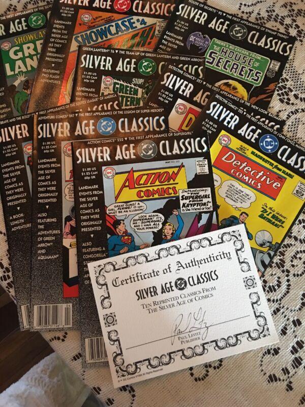 DC Silver Age Classics reprints 10 comic set with COA and slipcase Mint -New