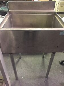 Small stainless commercial sink