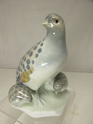 Metzler & Ortloff Porzellan Wachtel Rebhuhn Art Deco Antik Ilmenau Figur 13,5 cm
