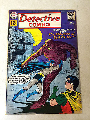 BATMAN in DETECTIVE #298 KEY ISSUE, 1ST MODERN CLAYFACE, 1961, AQUAMAN, ROBIN