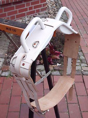 Voltigiergurt aus Leder Größe,Pony,weiß ,ca 154-184 cm