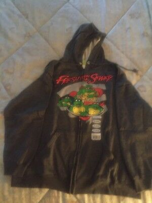 Teenage Mutant Ninja Turtles Zip Up Hoodie, Fresh From The Sewer (XL - Tmnt Zip Up Hoodie