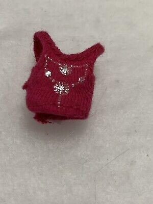 "Girlz Girlz Bratz Kidz 7"" Yasmin Doll Pink Tank Top Silver Necklace Print"