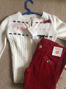 Gymboree cords and cardigan