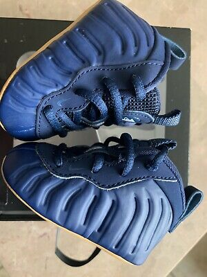 Nike Lil Posite One TD Size 1c Foamposite Midnight Navy Gum