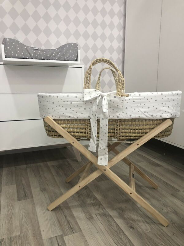 Baby Palm Moses Basket with Stand