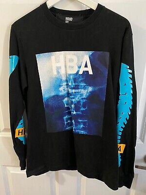 Hood By Air HBA Long Sleeve Shirt Mens Black Sz M Aqua Sleeve