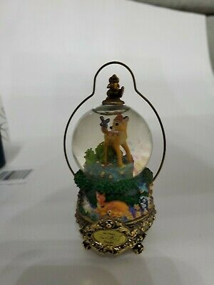 Disney Rare Master Of Animation Frank Thomas Bambi Mini Snowglobe Ornament.