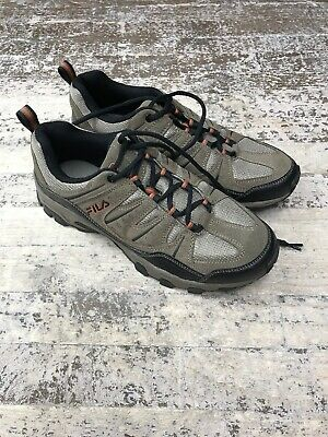 Fila Men's MIDLAND Rugged Trail Hiking Shoes Brown Orange Black