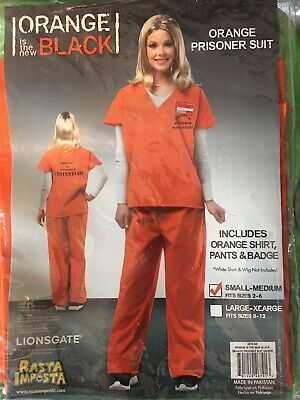Orange Is The New Black Halloween Costume (Orange is the New Black WOMENS PRISON COSTUME ORANGE Cosplay Halloween S-M)