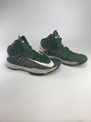 free shipping 9b1ae 1dfa2 Nike Men s Hyperdunk Men s 2012 Basketball Hightop Sneakers Green White Size  10