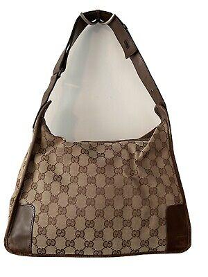 Vintage Gucci medium Brown Canvas GG Shoulder/Handbag