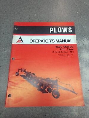 Allis Chalmers 2500 Series Plow Operators Manual 70593571