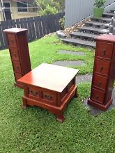 Two coffee table and CD drawer / speaker stand setting Jindalee Brisbane South West Preview