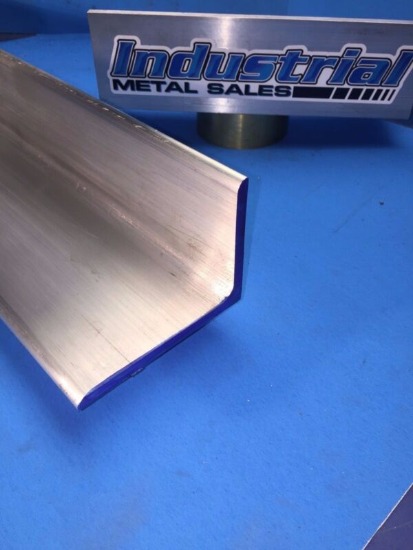 "6061 T651 Aluminum Angle 3"" x 4"" x 36"" Long x1/4"" Thick"