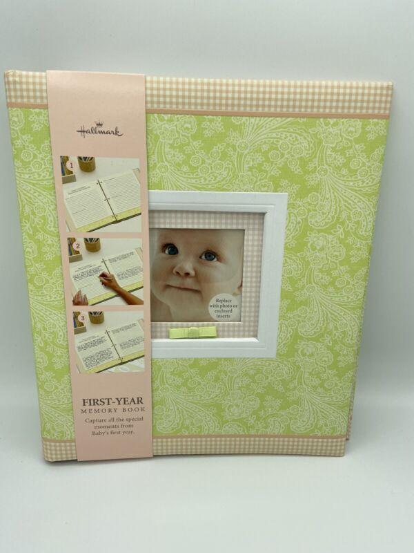 Hallmark Baby First Year Memory Book Boy Girl Photo Album NEW