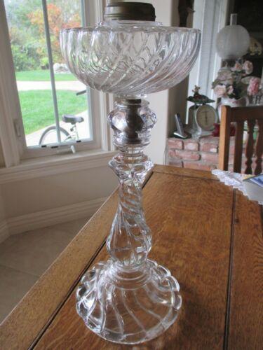 Antique Baccarat Glass Banquet Lamp