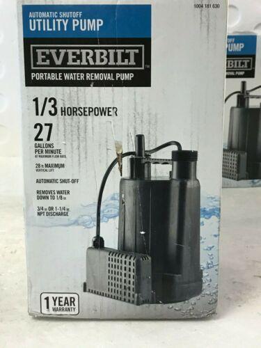Everbilt 1/3 HP Automatic Utility Pump EBAU33