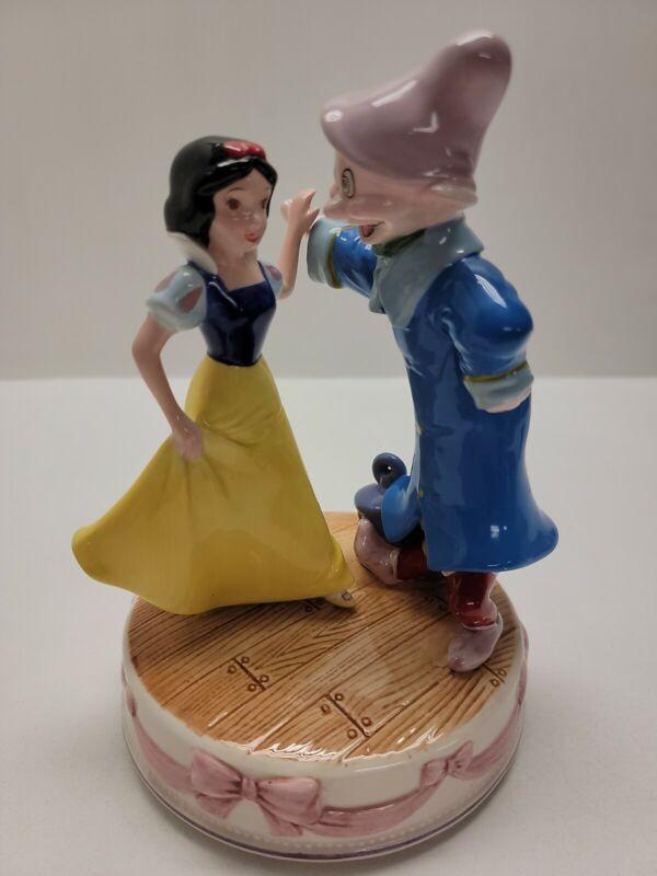 "VTG Walt Disney Snow White Dwarf  ""Someday My Prince Will Come"" Music Box Schmid"