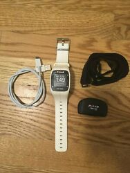 Polar m400 watch + sensor + chest strap + charging cable