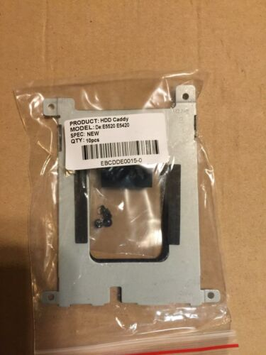Dell Latitude E5420 E5520 SATA HD SSD Hard Drive Disk Caddy   Screws