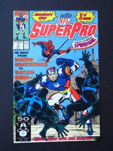 NFL SuperPro #1,2,3,5 & Special  NM 1991  Lot of 5 High Grade Marvel UNREAD