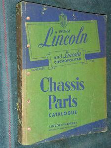 1949-1951-LINCOLN-CHASSIS-PARTS-CATALOG-ORIGINAL-BOOK-PRINTED-NOVEMBER-1950