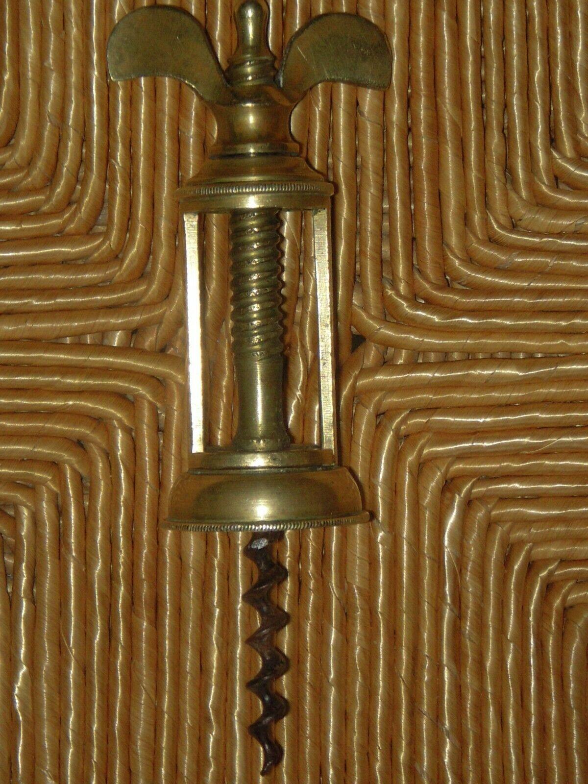 Rare tire-bouchon à cage en bronze 19ème siècle