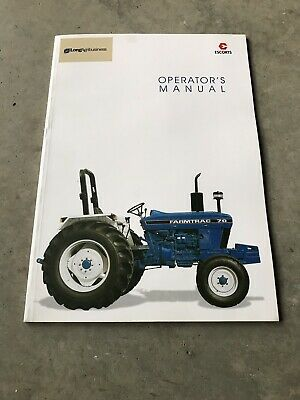 New Genuine Farmtrac 70  Tractor Operators Operation Manual for sale  Shipping to India