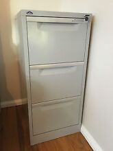 Three (3) Drawer Grey Filing Cabinet Lane Cove West Lane Cove Area Preview