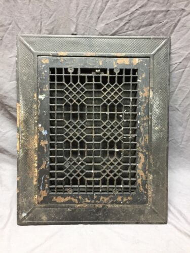 Arts and Crafts Cast Iron Heat Grate Floor Vent Register Surround 10x14 259-18C