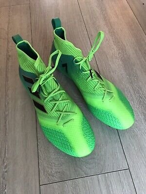 Adidas ACE 17.1 Primeknit AG/ FG, Football Boots. Green - Size 10.5