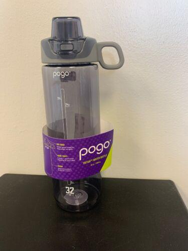 Pogo Tritan Water Bottle 32 Oz Chug Lid Grey Hiking Outdoors