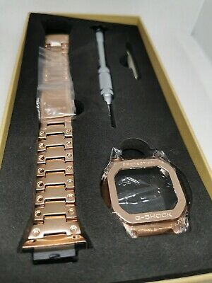 Rose gold stainless steel bezel and bracelet for Casio G Shock GW-M5610.