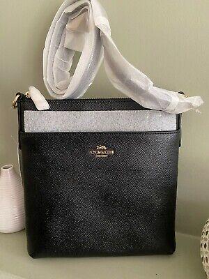 Brand NewCoach Kitt Messenger Leather Crossbody Bag, Black