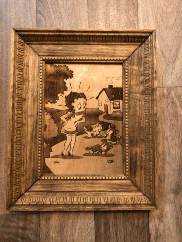 VTG Framed Betty Boop Animation Art